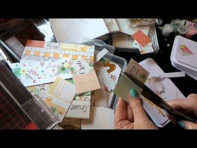 Craft Sale Ideas: Fast Easy Greeting Cards w. Project Life Cards & Embellishments