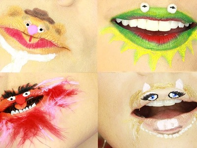 Crazy Muppet Lip Art by Kandee Johnson