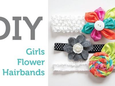 DIY Flower Hair Bands