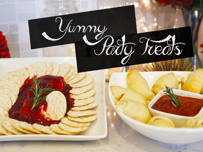 DIY Holiday Party Recipes - Pizza Rolls & Spicy Strawberry Dip | ANNEORSHINE