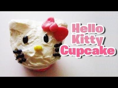 Hello Kitty Inspired Cupcake (edible)