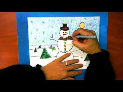 How to Color the Snowman