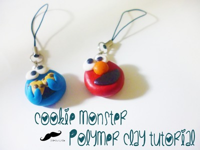 How to make cookie monster polymer clay (tutorial)