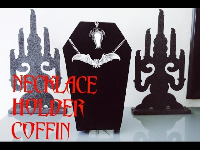 NECKLACE HOLDER COFFIN- PORTA COLLAR DE ATAUD