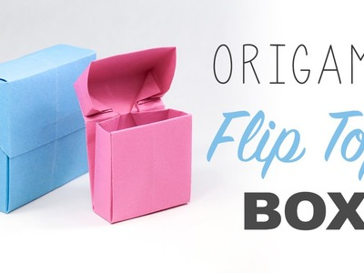 Origami Flip Top Box Tutorial