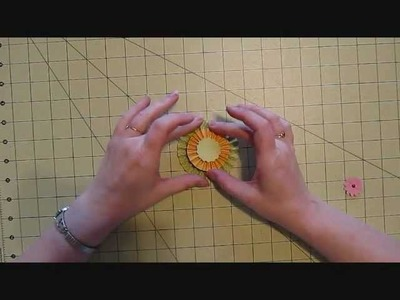 Paper Rosettes Tutorial Using a Score Board.