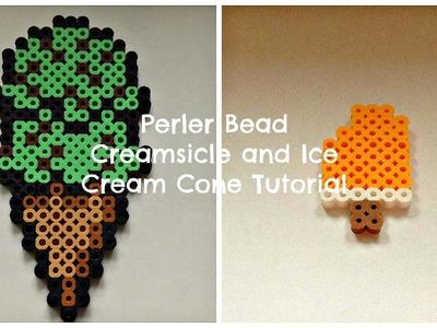 Perler Bead Creamsicle and Ice Cream Cone Tutorial