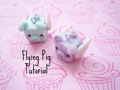 Polymer Clay Flying Pig Charm Tutorial!
