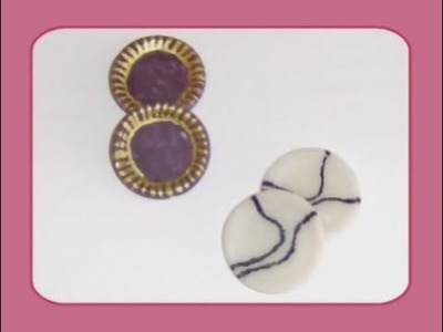 Polymer Clay Miniature - Plates From A Button - Easy