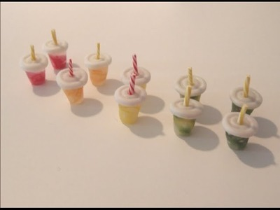 Polymer Clay Miniature - Small Fruit Juice Cup