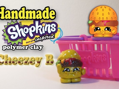 Season 1 Shopkins: How To Make Cheezey B Polymer Clay Tutorial!