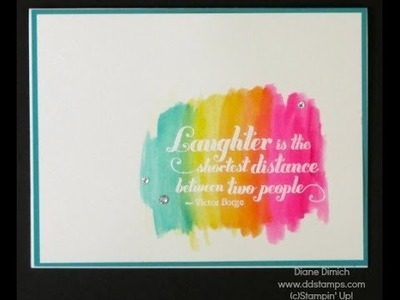 Stampin' Up! Watercolor Greeting Card