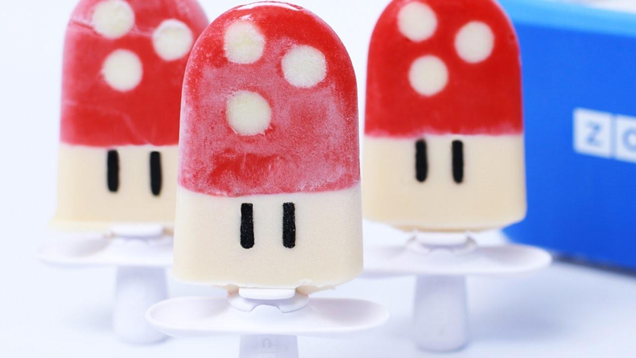 SUPER MARIO MUSHROOM POPSICLES - NERDY NUMMIES