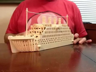 Titanic Wood Craft Construction Kit Time Lapse