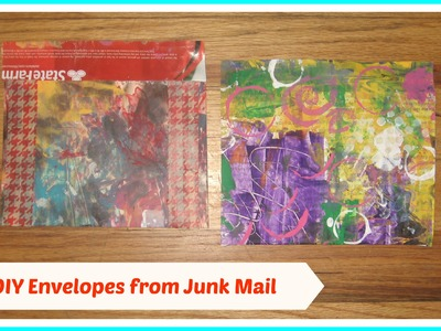 DIY: How to Make Mail Art Envelopes from junk. DIY handmade envelopes. DIY Happy Mail Envelop