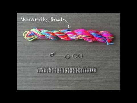 DIY Neon Rhinestone Bracelet Tutorial