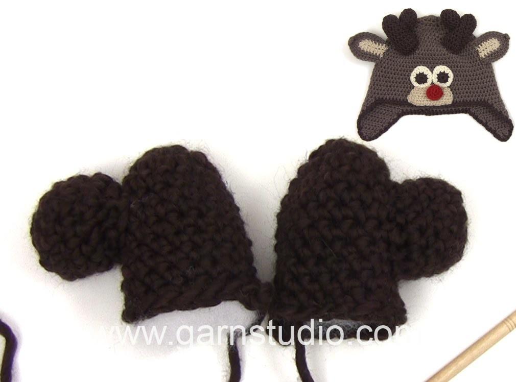 DROPS Crocheting Tutorial: How to work reindeer antler.