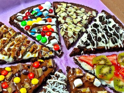♥ HOW TO MAKE A BROWNIE PIZZA ♥