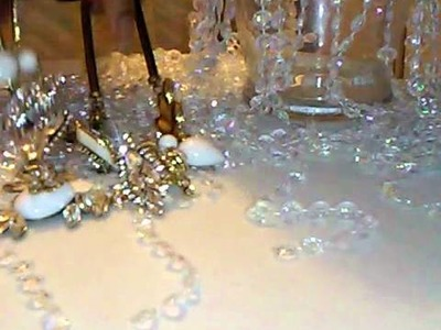 How to make a Crystal Chandelier table centerpiece part 2