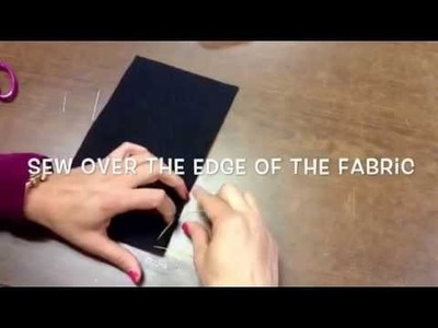 How to sew  the overcast stitch