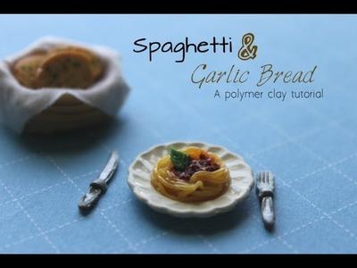 Polymer Clay Tutorial: Spaghetti Bolognese & Garlic Bread