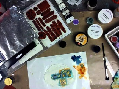 PTP Elements Stamps & Polymer Clay Tiles -- Part 2 - Patti Tolley Parrish - Inky Obsessions