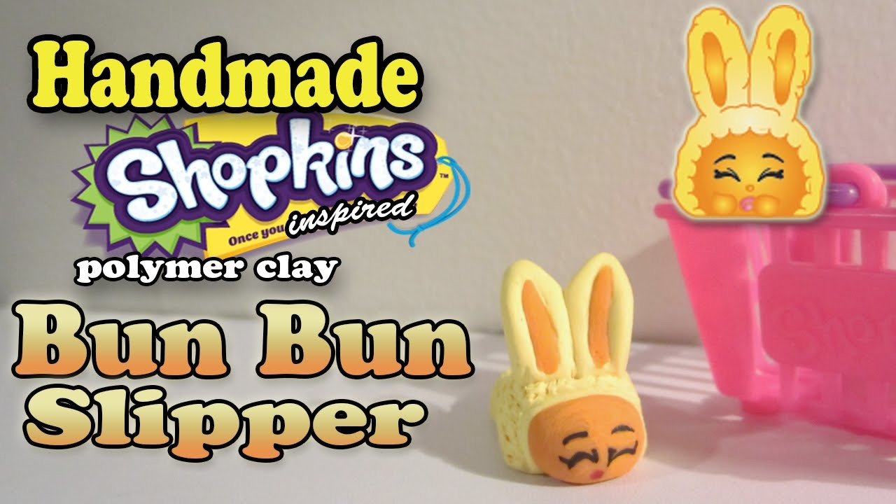 Season 2 Shopkins: How To Make Bun Bun Slipper Polymer Clay Tutorial!