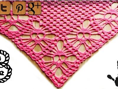 Skull shawl crochet pattern part 3 - by Kungen - © Woolpedia
