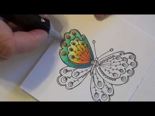 Spectrum Noir Coloring Tutorial - Butterfly