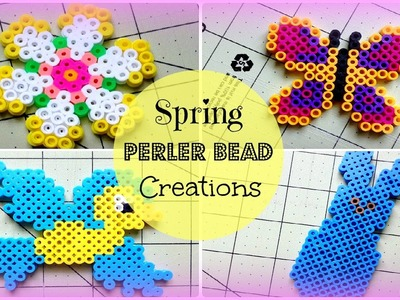 Spring Perler Bead Creations (Collab with SweetCupcakeSprinkles)