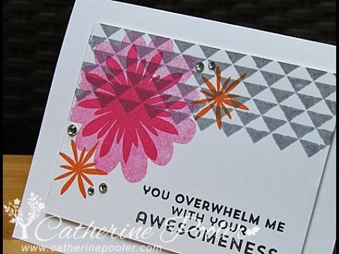 Stampin Up! Flower Patch Card with Catherine Pooler