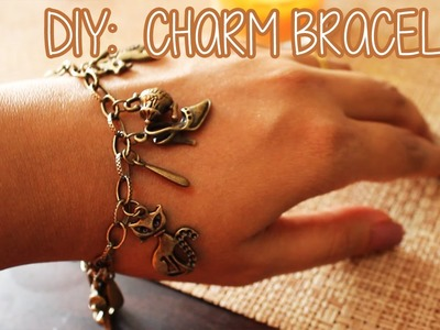 DIY : Charm Bracelet - jewelry making tutorial