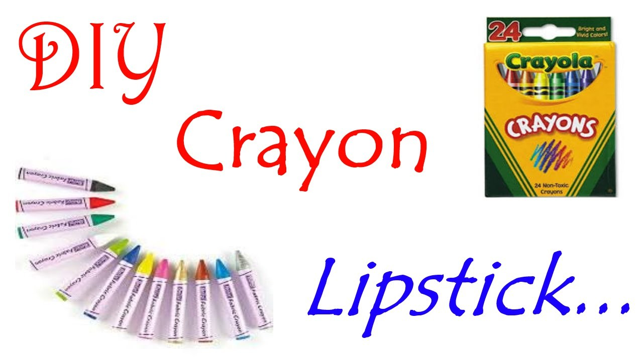 DIY lipstick made with crayons (Simplified version)