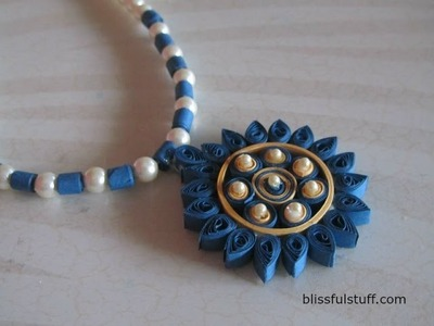 DIY - Quilled Paper Necklace, Easy paper quilling jewellery tutorial
