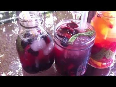 DIY Refreshing Fruit Summer Drinks