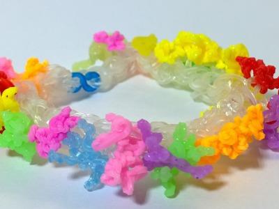 Easy Rainbow Loom Sea Coral Bracelet-How to make Sea Coral Bracelet with Loom