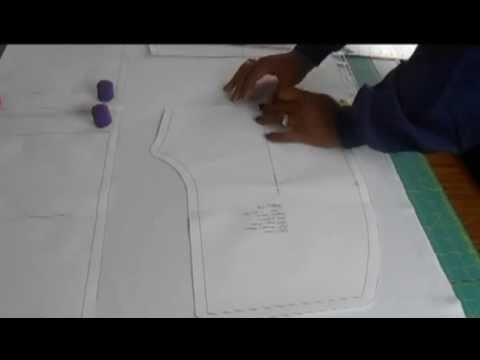 How to Lay a Pattern Piece on the Fabric's Grain Lines