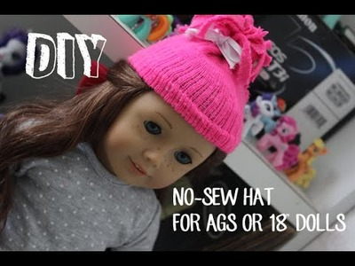 "How To Make A No-Sew Hat For Your American Girl Doll or 18"" Doll!"