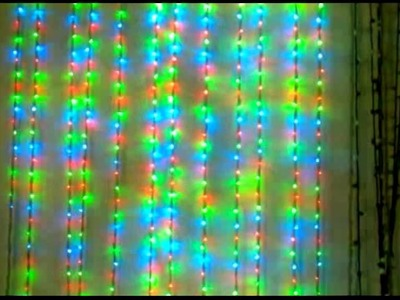 How to make LED waterfall curtain christmas lights decoration strings
