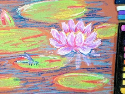 How to Paint Waterlilies in Pastel