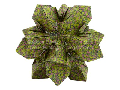 Origami Kusudama (Aileen Edwin) Video Tutorial *HD*