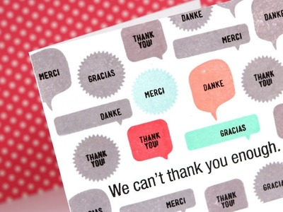 Simple & Easy From Us Thank You Card