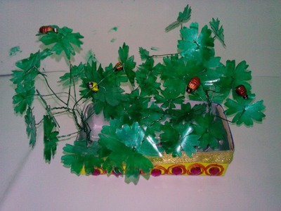 DIY- Recycling bottles to convert it into a nice showpiece in a very easy way