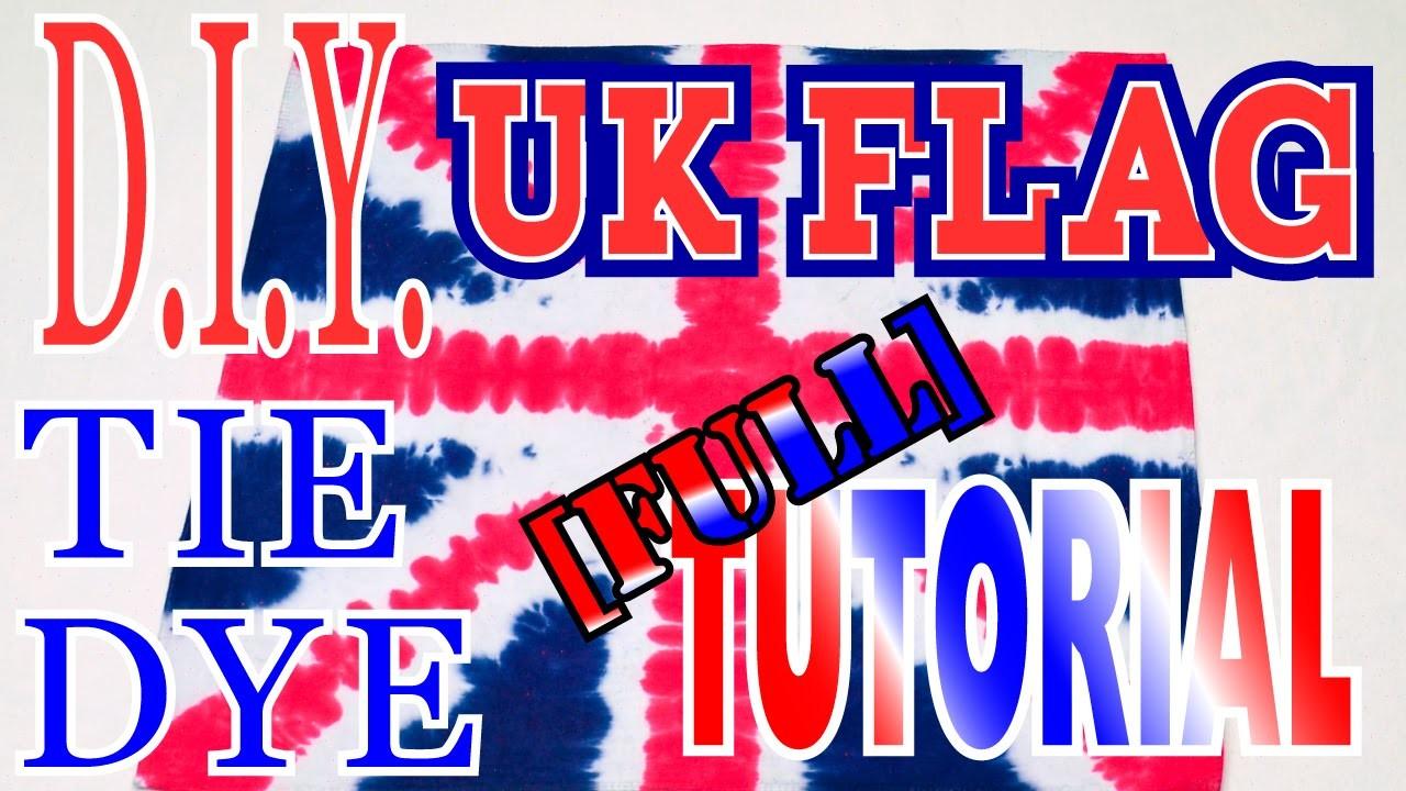DIY UK Flag How to Tie Dye [Full Tutorial]