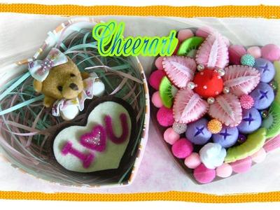 Felt craft update.share :felt cake gift box, felt tissue box