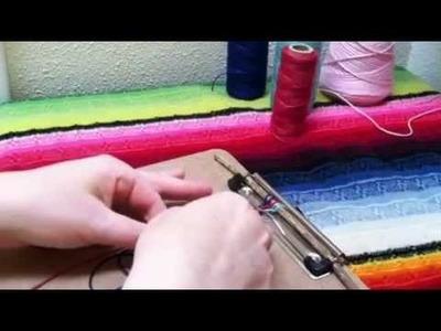Finger Weaving Lesson for kids