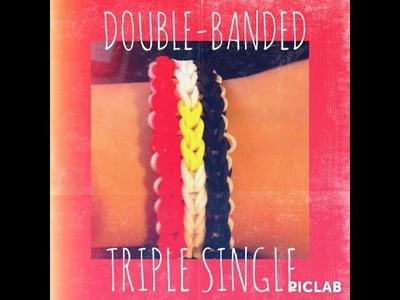 How To: Double Banded Triple Single Bracelet (Egyptian Flag)