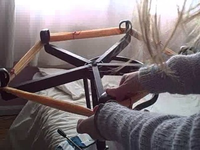 How to Wind a Skein of Yarn with a Computer Chair