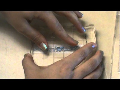 Michaels Paper tape Scrappy stamping tutorial