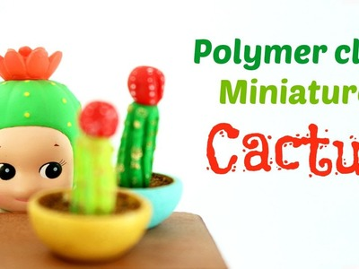 Miniature cactus in a pot - polymer clay tutorial